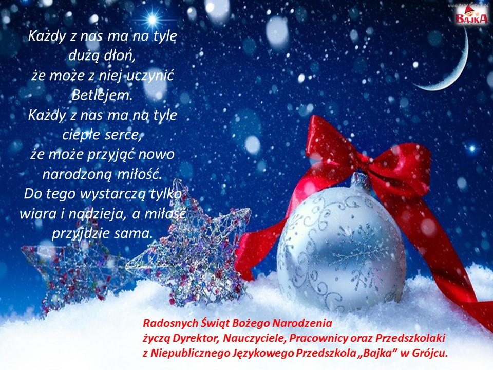 Życzenia bożonarodzeniowe 2017